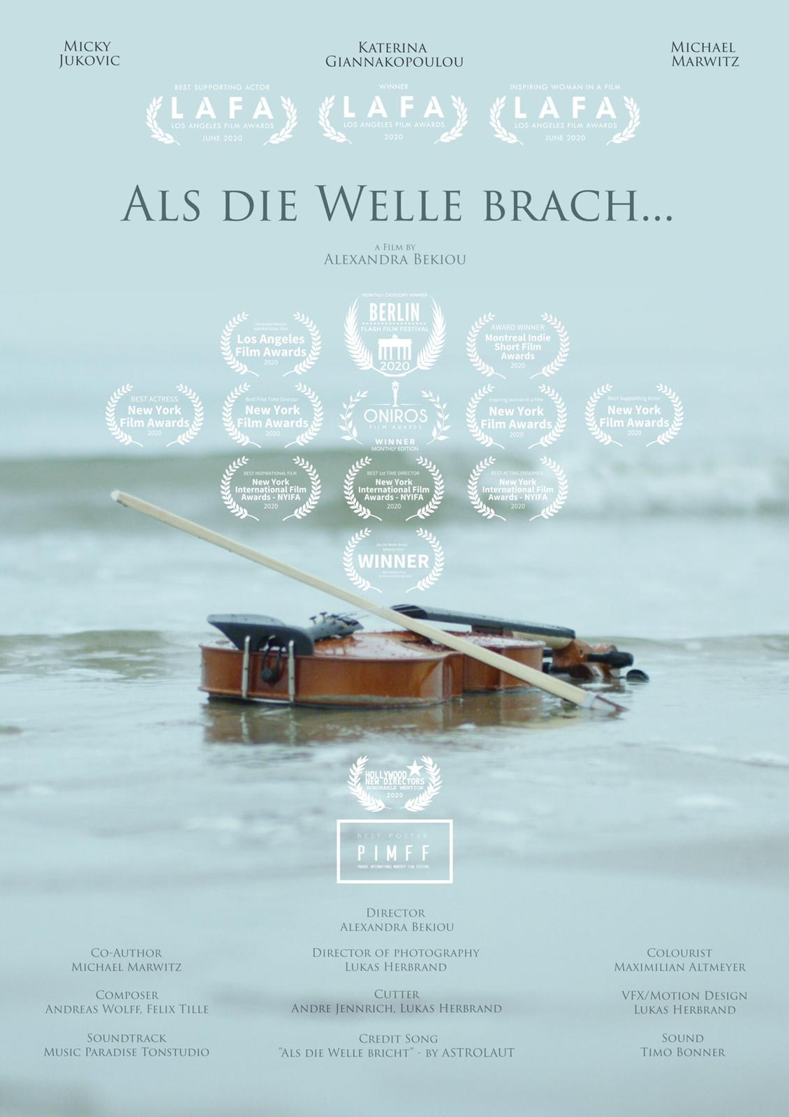 As the Wave Broke, Poster