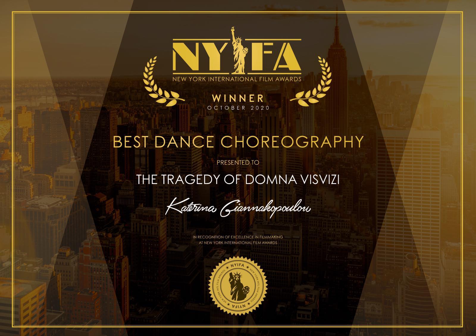 Award, Filmaward, dance, choreography, experimental, performance